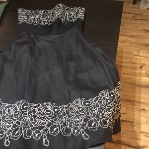 Loft Strapless Linen Dress